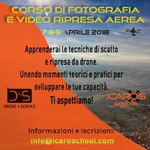 corso di video e foto da drone