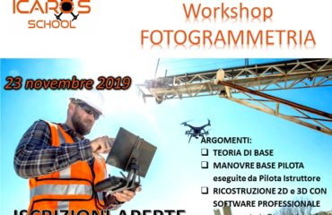 Workshop Professionale Fotogrammetria da DRONE 23 novembre 2019